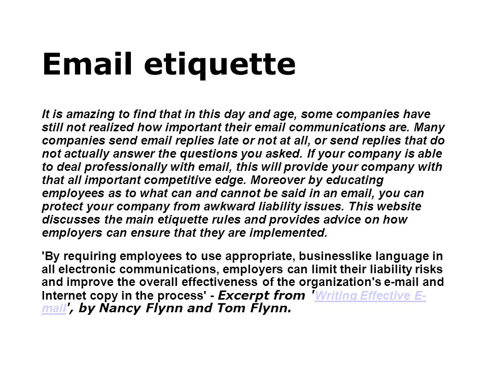 Why do you need email etiquette.