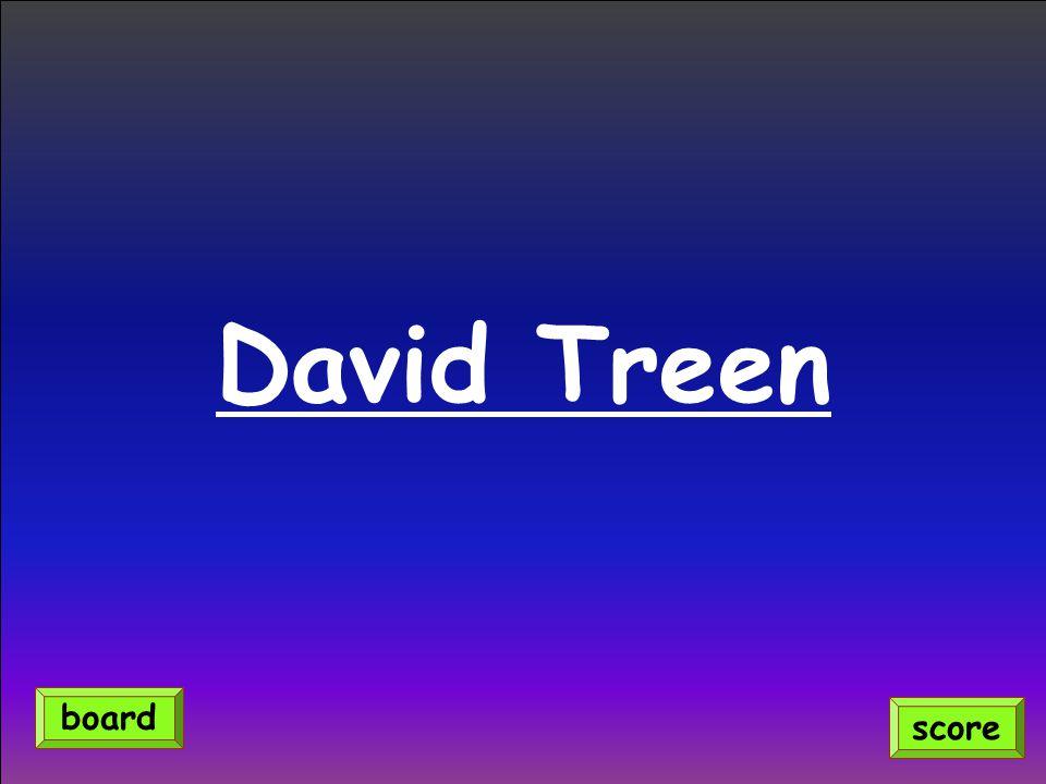 David Treen score board