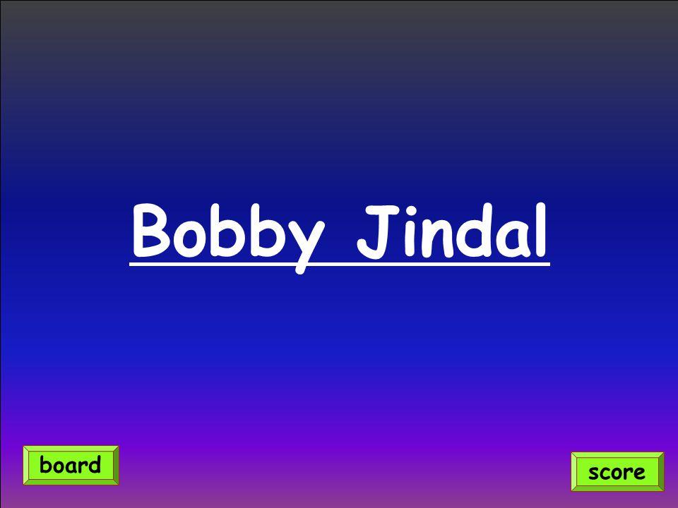 Bobby Jindal score board