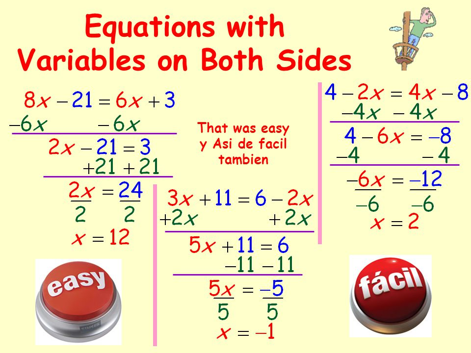 Multi-Step Equations with Fractions I don't like fractions. Quiero empujar el boton de facil.