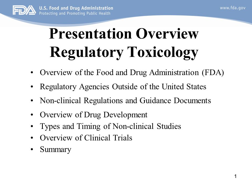 22 Overview of FDA