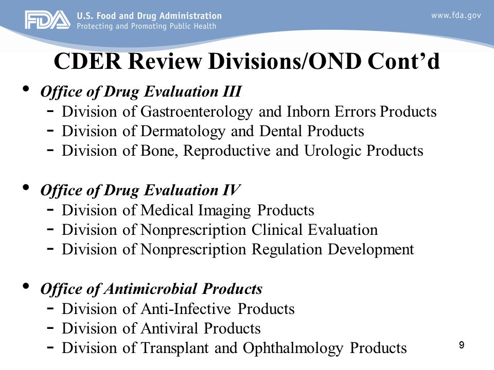 Office of Hematology and Oncology Products Division of Oncology Products 1 (DOP 1) Breast, Gynecologic/Supportive care, Genitourinary Division of Oncology Products 2 (DOP 2) Gastrointestinal, Lung/H & N, Neuro-oncology/Rare cancers/Solid Tumor Pediatric Malignancies, Melanoma/Sarcomareast, Division of Hematology Products(DHP) Benign Heme, Heme Malignancy, Heme Support Division of Hematology, Oncology, Toxicology (DHOT) 10