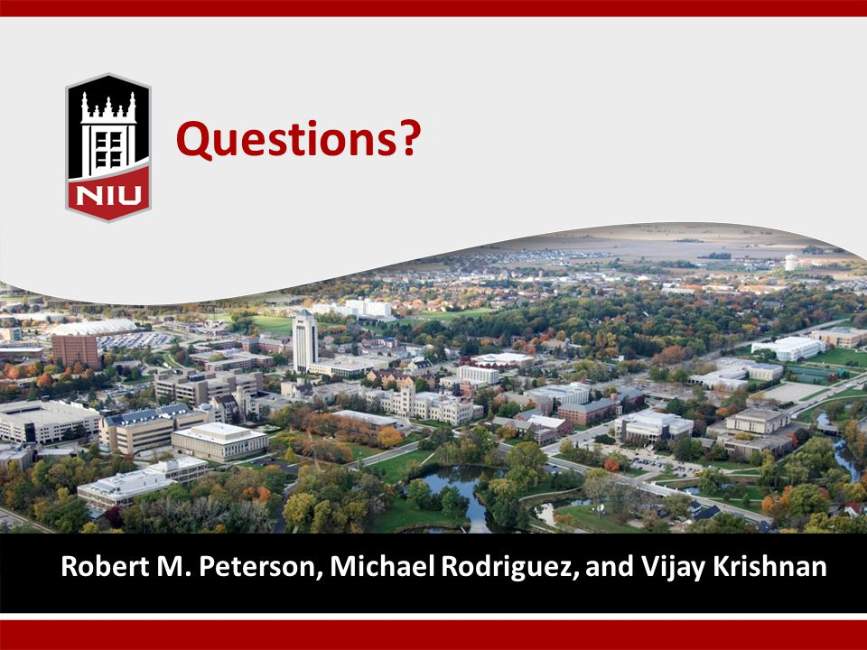 Questions Robert M. Peterson, Michael Rodriguez, and Vijay Krishnan