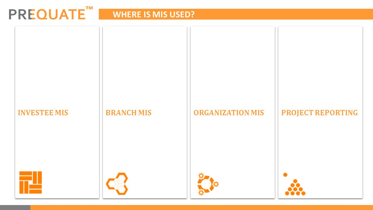 ™ WHERE IS MIS USED INVESTEE MIS BRANCH MIS ORGANIZATION MIS PROJECT REPORTING