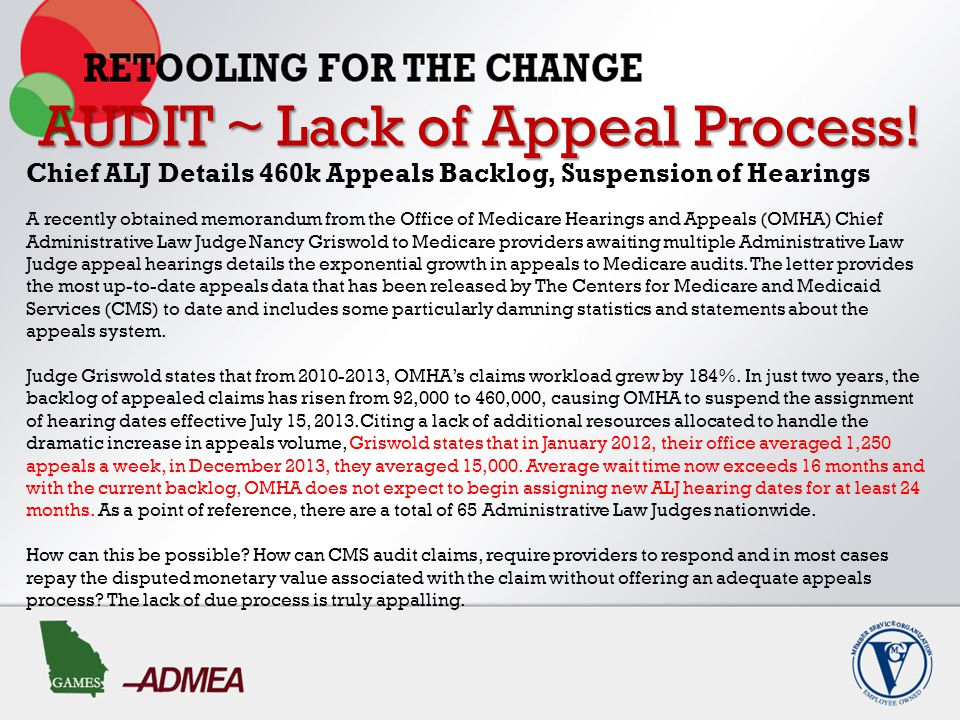AUDIT ~ Lack of Appeal Process.