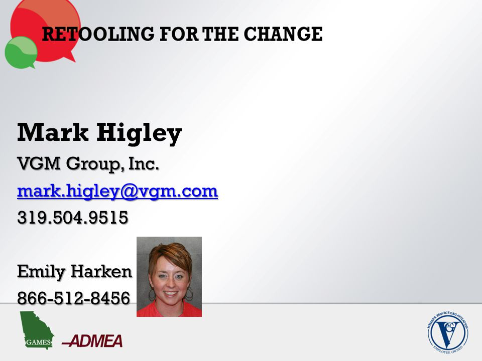 Mark Higley VGM Group, Inc. mark.higley@vgm.com 319.504.9515 Emily Harken 866-512-8456