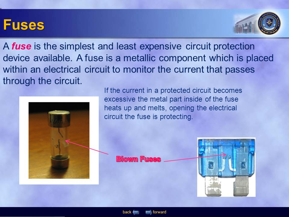 A fuse is the simplest and least expensive circuit protection device available.