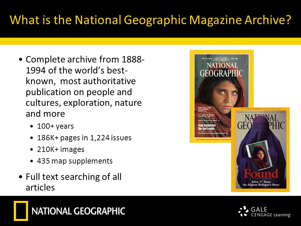 What is the National Geographic Magazine Archive.