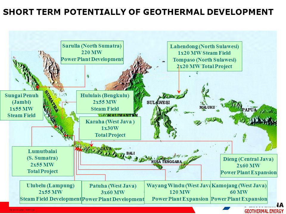 File:hen/srt/master Grafik-2.ppt Wayang Windu (West Java) 120 MW Power Plant Expansion Patuha (West Java) 3x60 MW Power Plant Development Sarulla (North Sumatra) 220 MW Power Plant Development Lahendong (North Sulawesi) 1x20 MW Steam Field Tompaso (North Sulawesi) 2x20 MW Total Project Ulubelu (Lampung) 2x55 MW Steam Field Development Lumutbalai (S.
