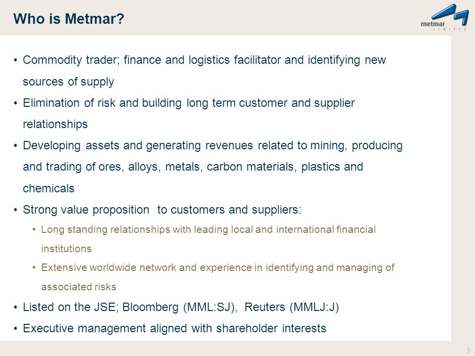 Who is Metmar.