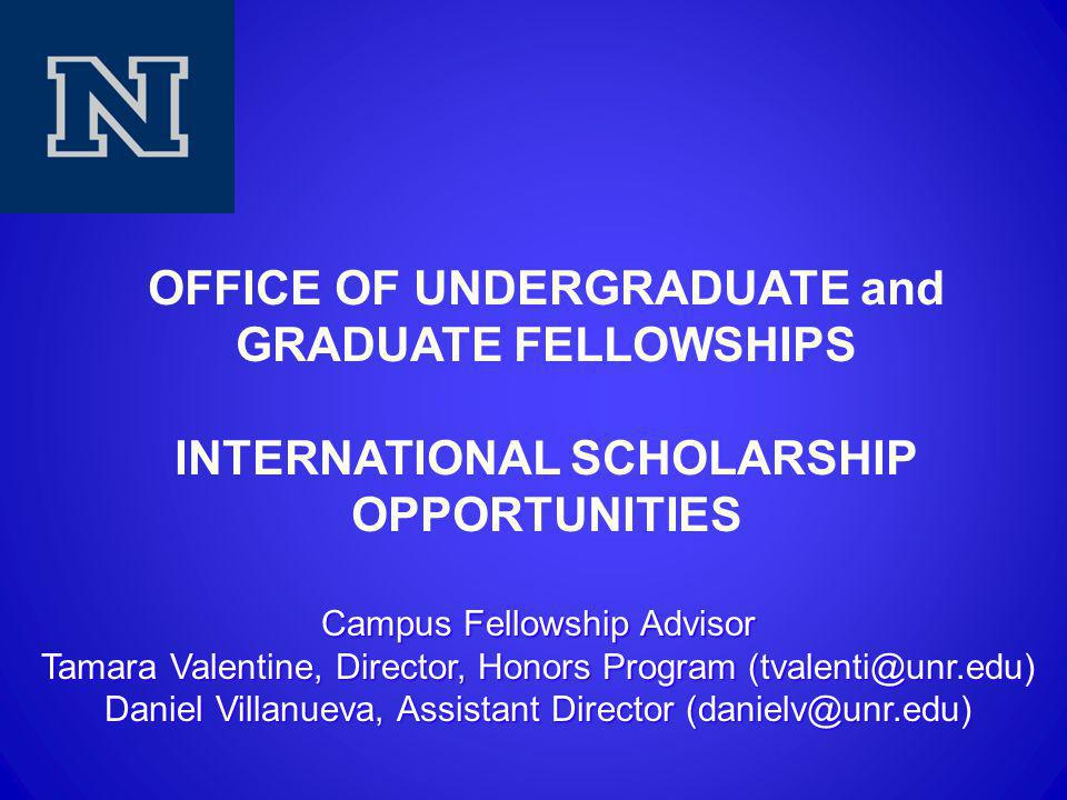 Overview  What makes a candidate stand out. What are international fellowships.