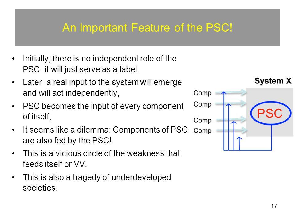 17 An Important Feature of the PSC.