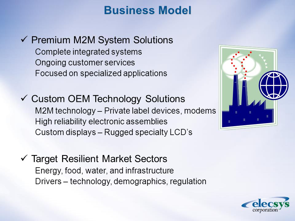 Elecsys Targets Industrial Markets Remote Fixed Locations Critical Applications M2M Market