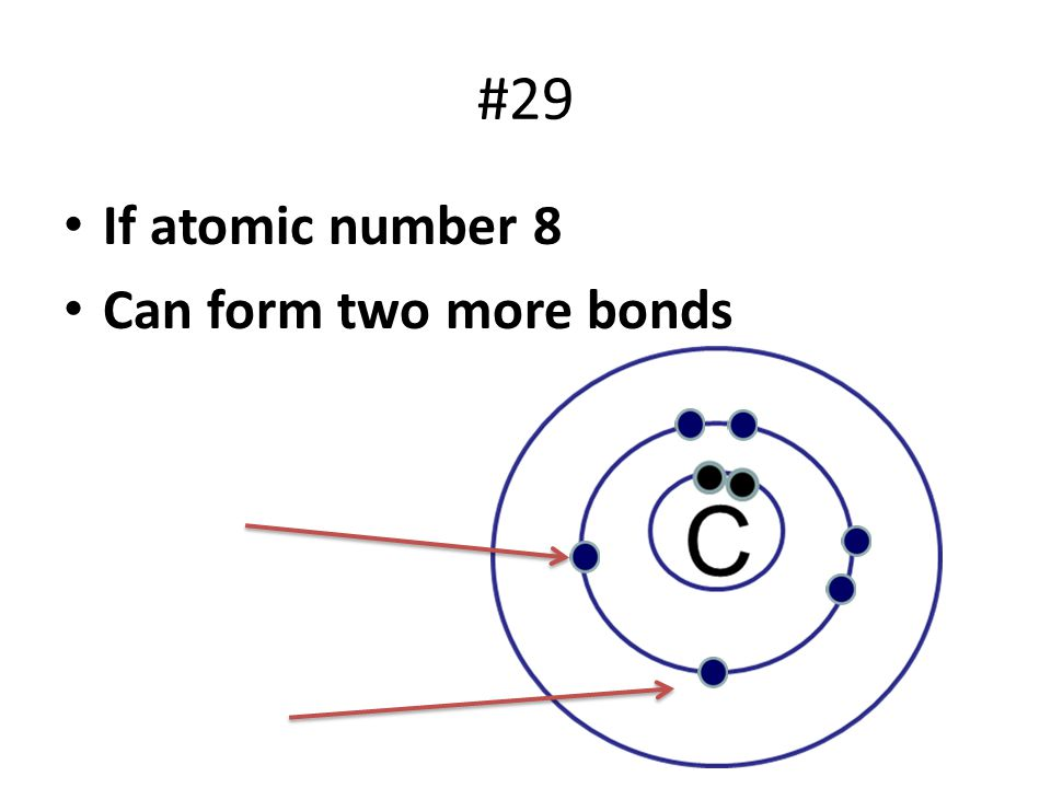 #29 If atomic number 8 Can form two more bonds