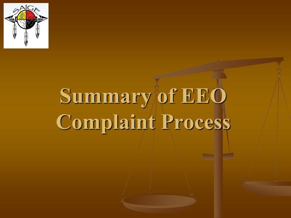 Summary of EEO Complaint Process