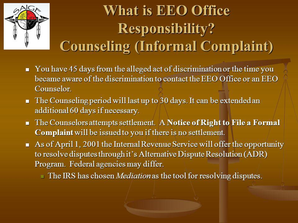 What is EEO Office Responsibility.