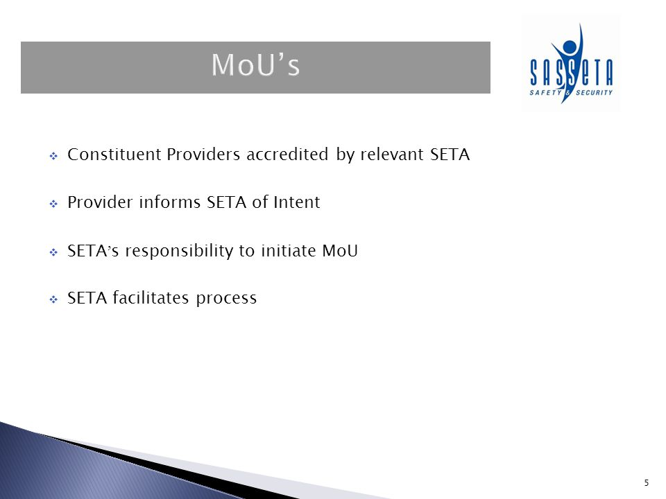  Accredited Skills Development Provider submits application for extension of scope through their Primary ETQA.