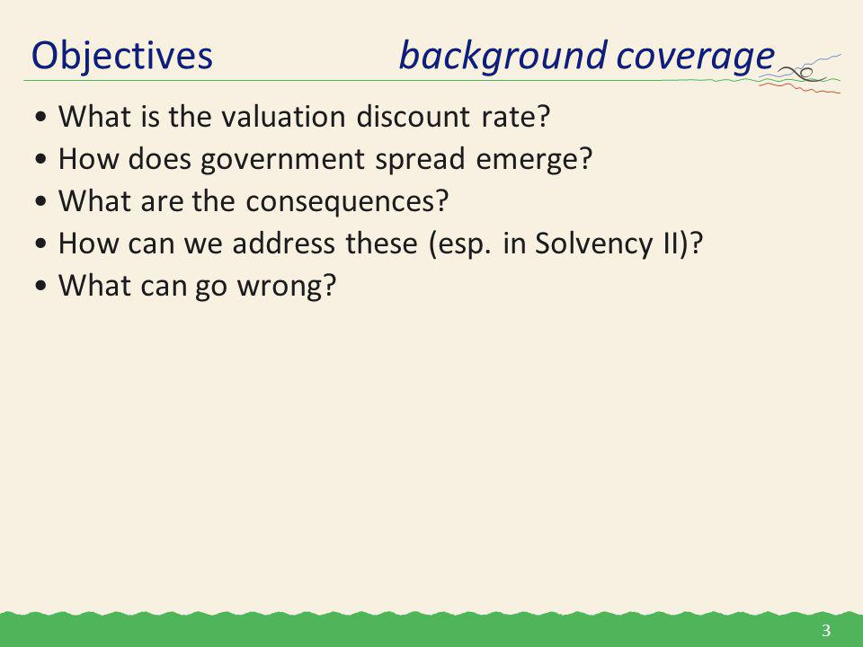 What is the valuation discount rate. How does government spread emerge.