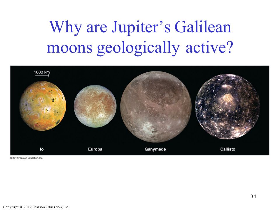 Copyright © 2012 Pearson Education, Inc. Why are Jupiter's Galilean moons geologically active? 34