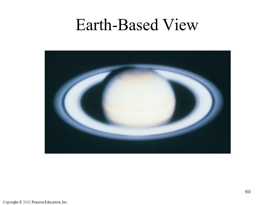 Copyright © 2012 Pearson Education, Inc. Earth-Based View 60