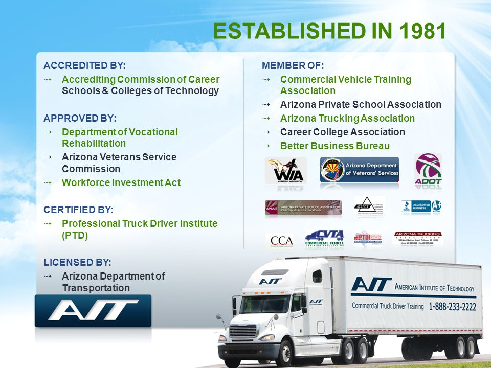 American Institute of Technology Commercial Truck Driver Training