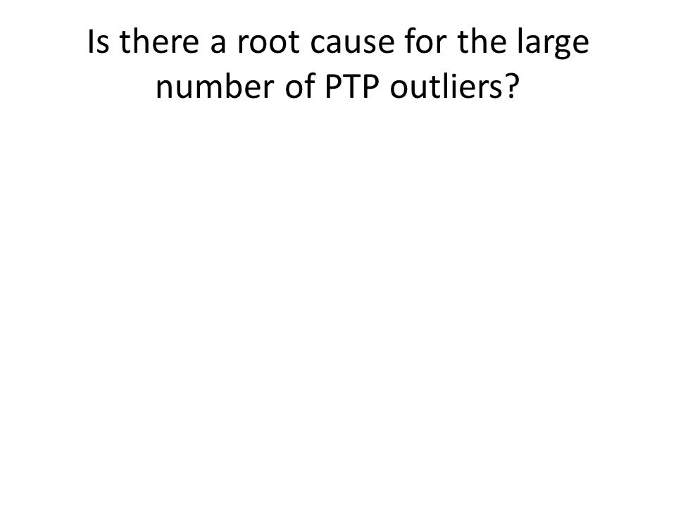 Is there a root cause for the large number of PTP outliers?