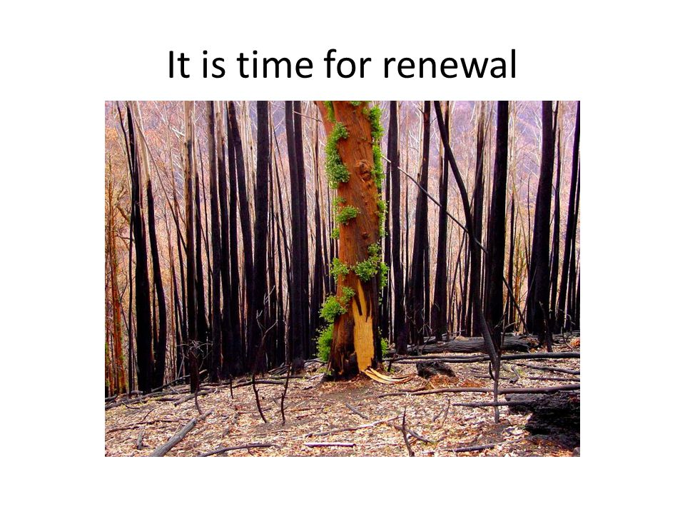It is time for renewal