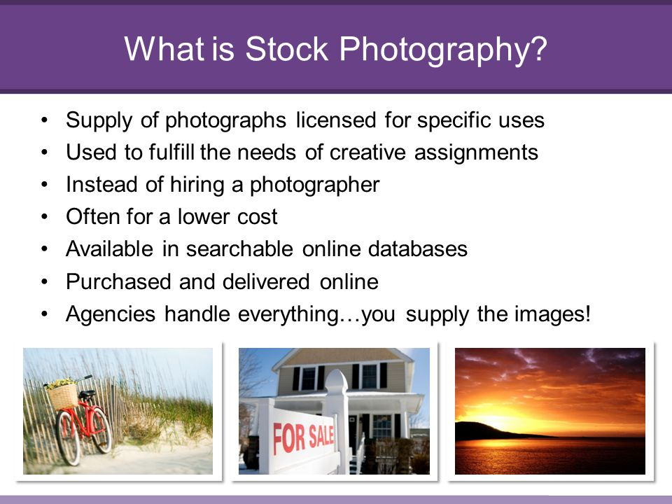 What is Stock Photography.