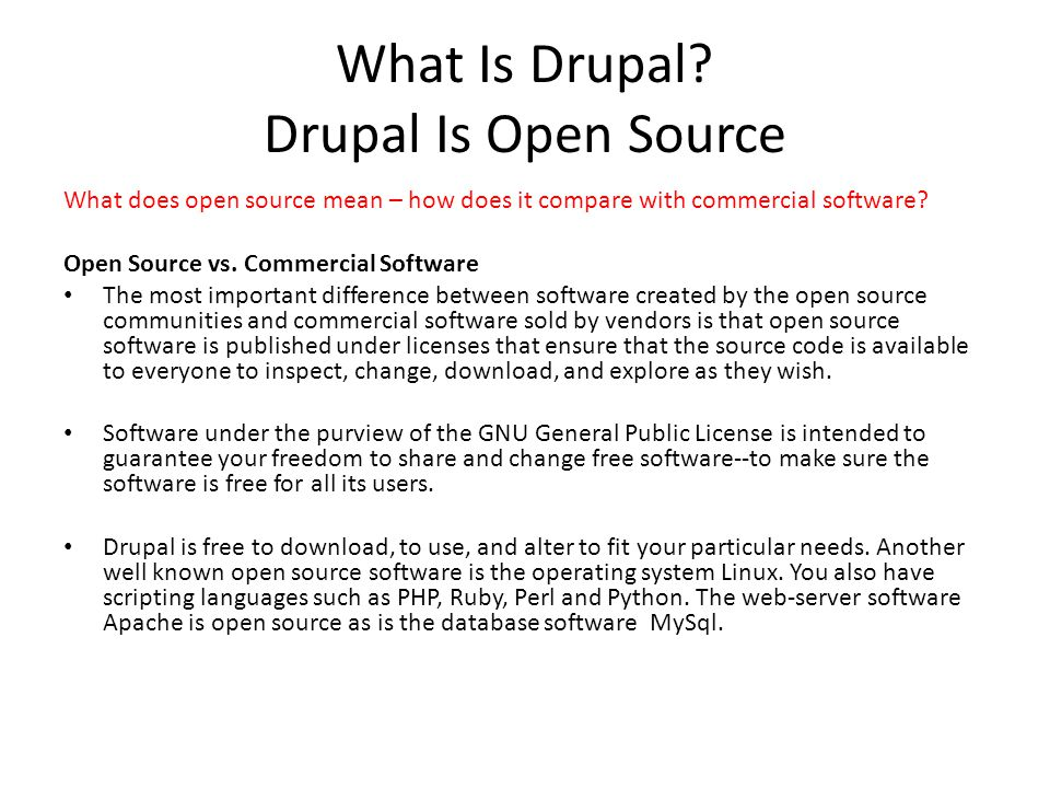 What Is Drupal.