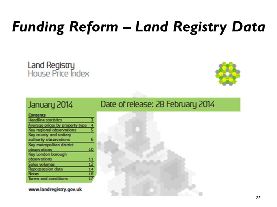 Funding Reform – Land Registry Data 25