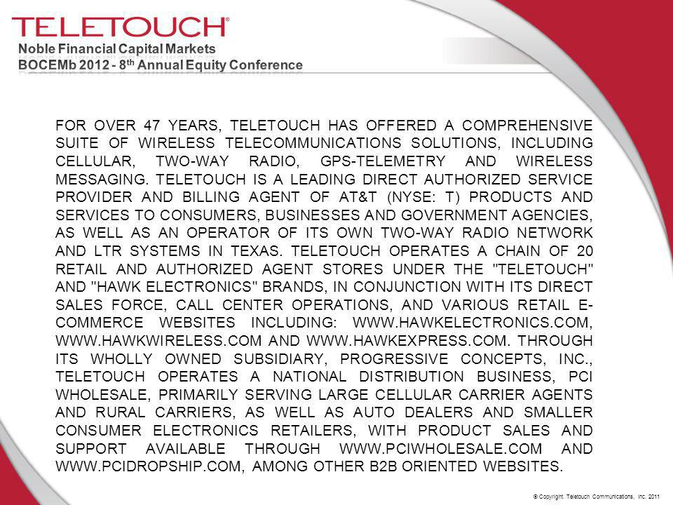 © Copyright Teletouch Communications, Inc.