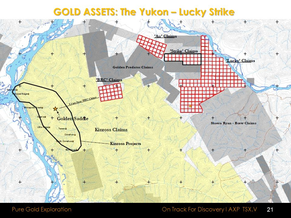 GOLD ASSETS: The Yukon – Lucky Strike On Track For Discovery I AXP TSX.V Pure Gold Exploration 21
