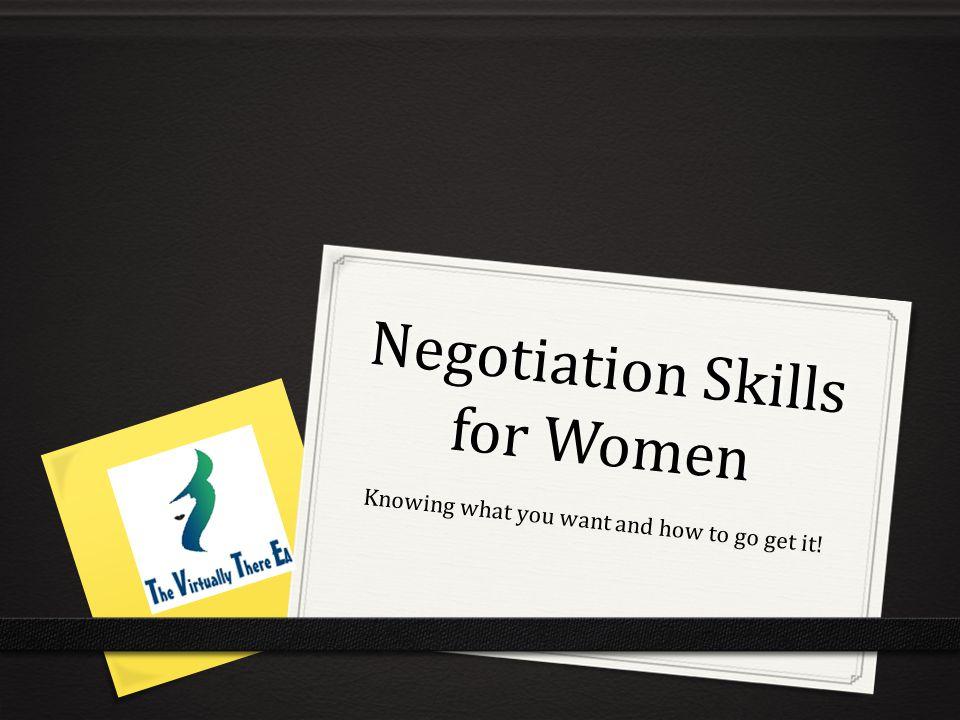 Everyday you negotiate.