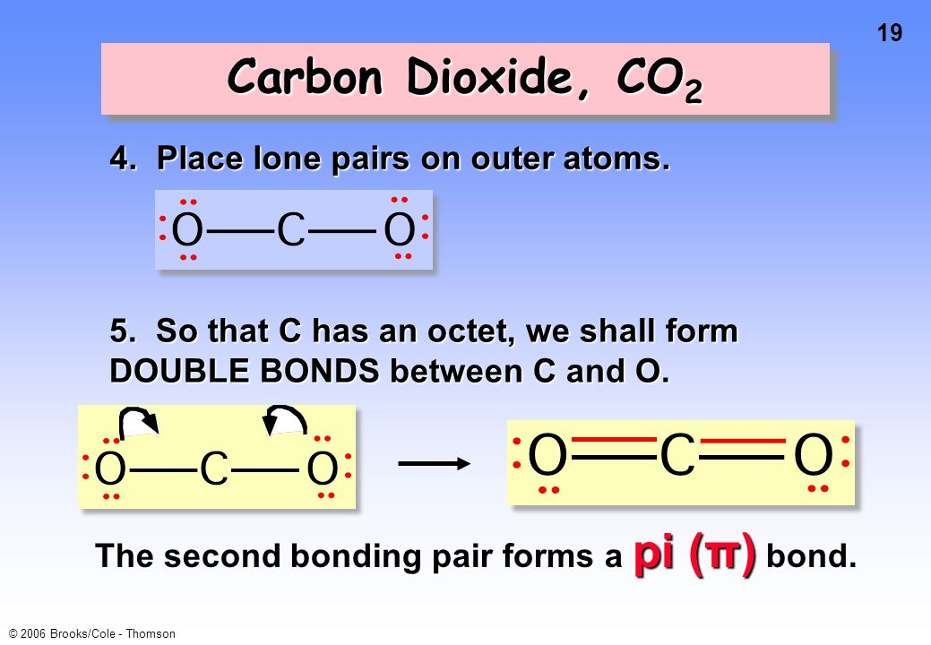 19 © 2006 Brooks/Cole - Thomson Carbon Dioxide, CO 2 4.