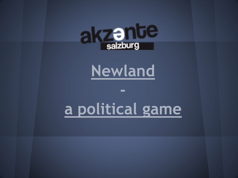 Newland - a political game