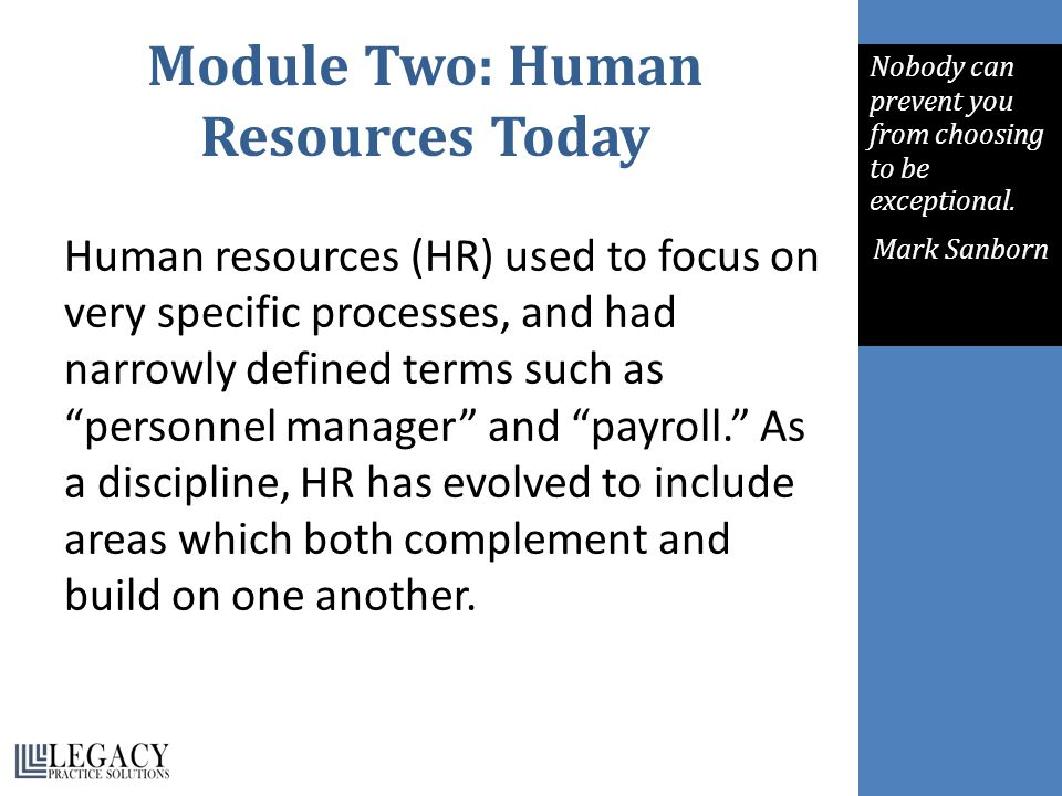 What is Human Resources Today.