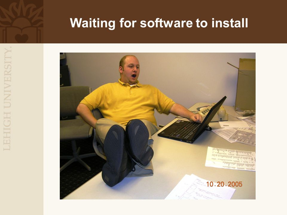 Waiting for software to install