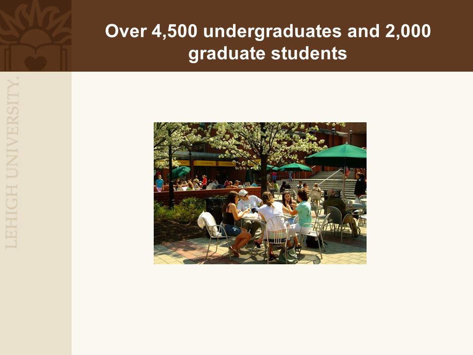 Over 4,500 undergraduates and 2,000 graduate students