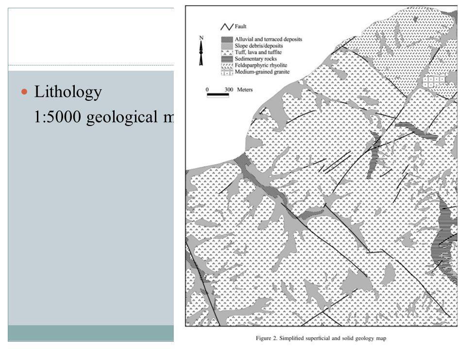 Data Lithology 1:5000 geological maps