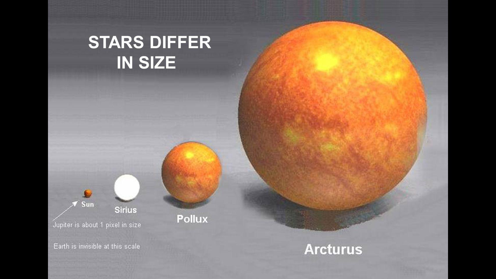 STARS DIFFER IN SIZE