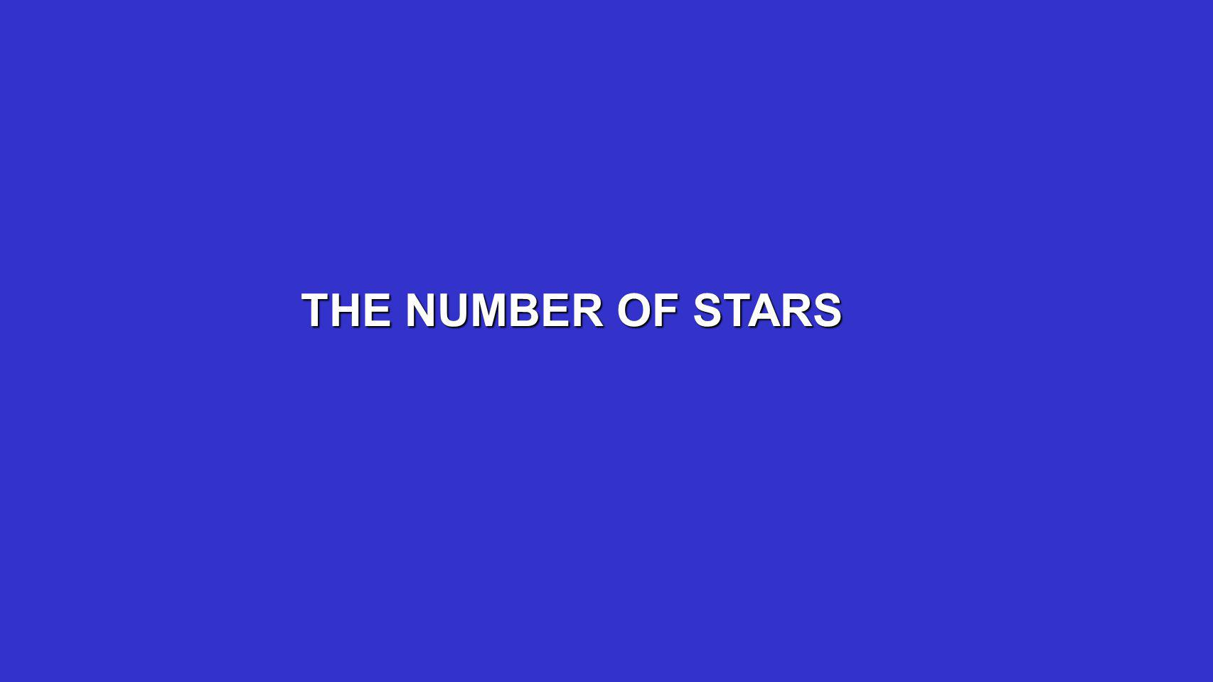 THE NUMBER OF STARS