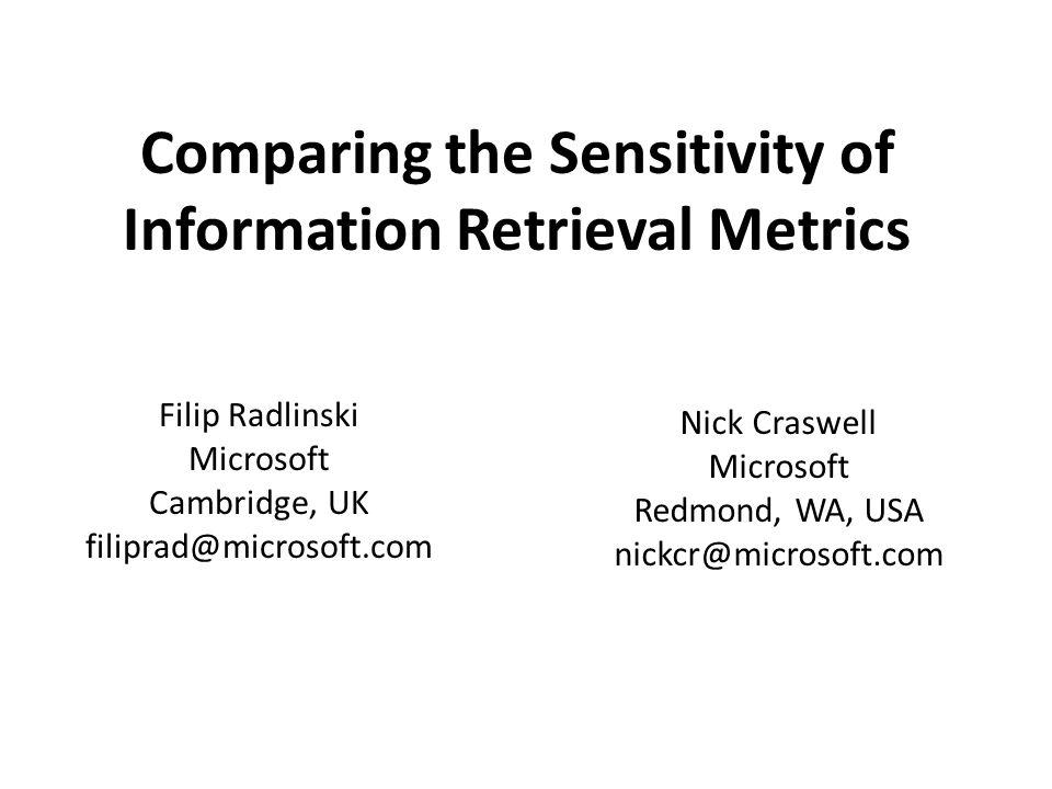 How do you evaluate Information Retrieval effectiveness.