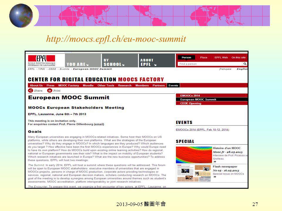 2013-09-05 醫圖年會 27 http://moocs.epfl.ch/eu-mooc-summit