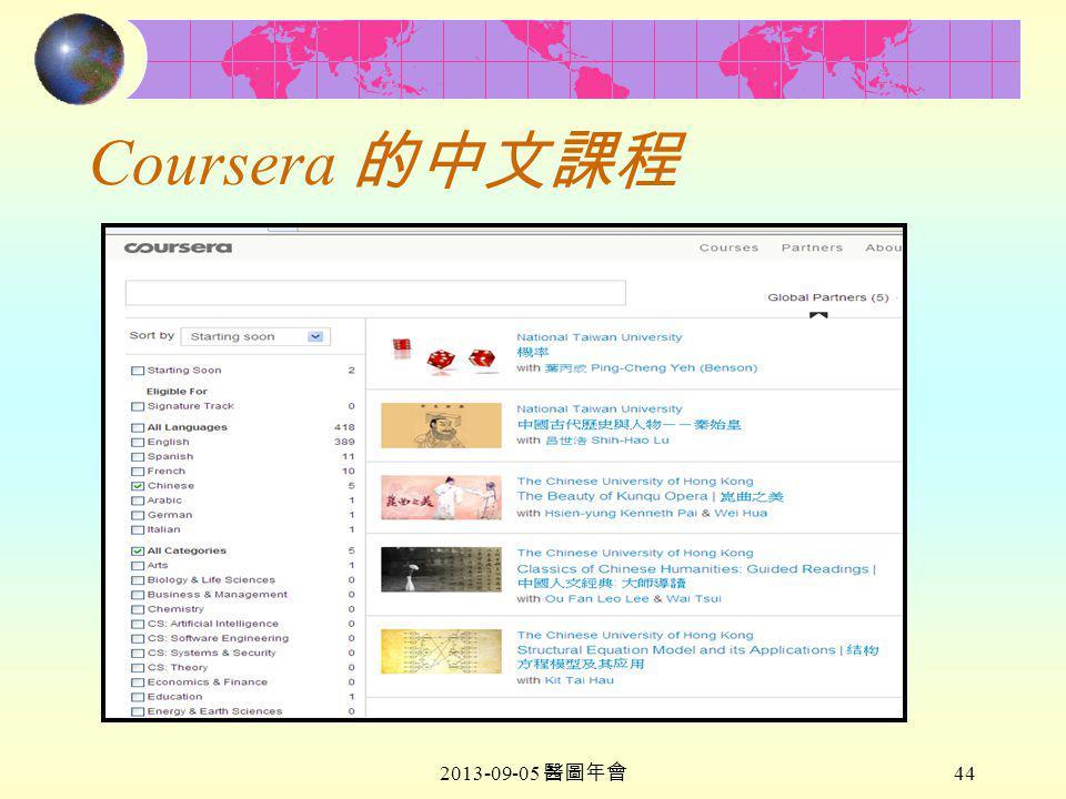 2013-09-05 醫圖年會 44 Coursera 的中文課程