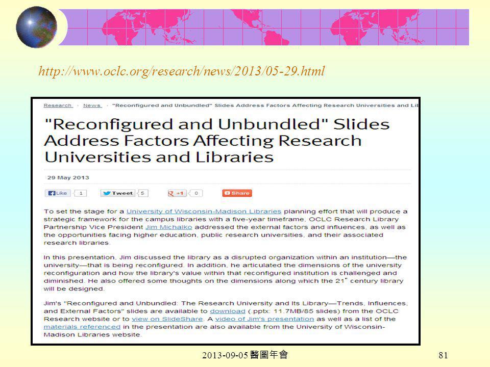 2013-09-05 醫圖年會 81 http://www.oclc.org/research/news/2013/05-29.html