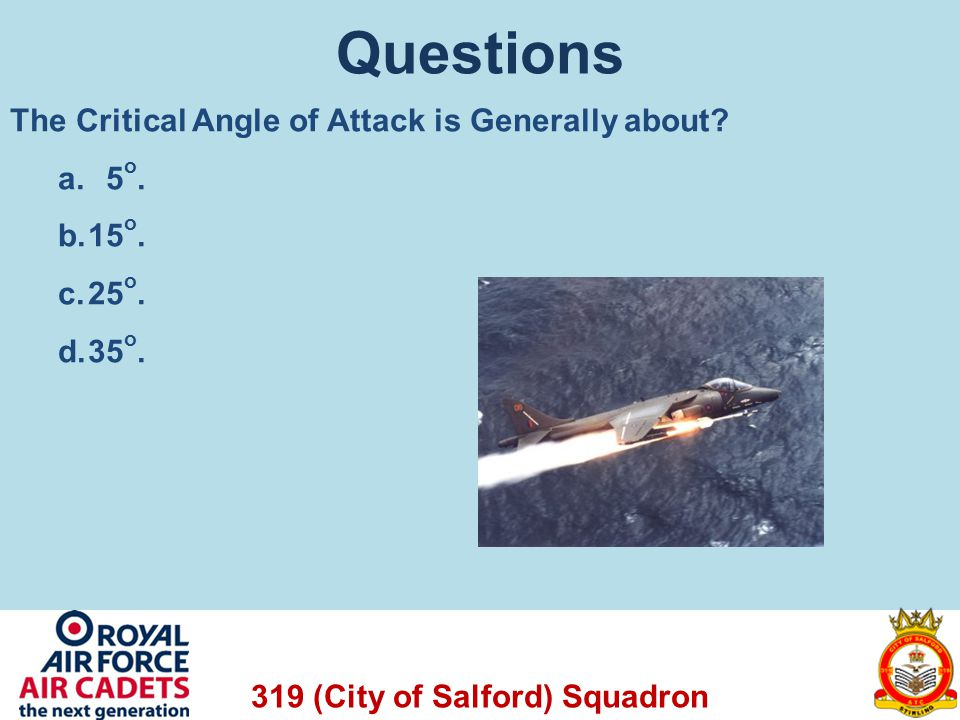 319 (City of Salford) Squadron Effect of the Wind Example: A glider travelling at 35kts into a head wind also of 35kts will appear not to move forwards, but instead stay in one place and descend.