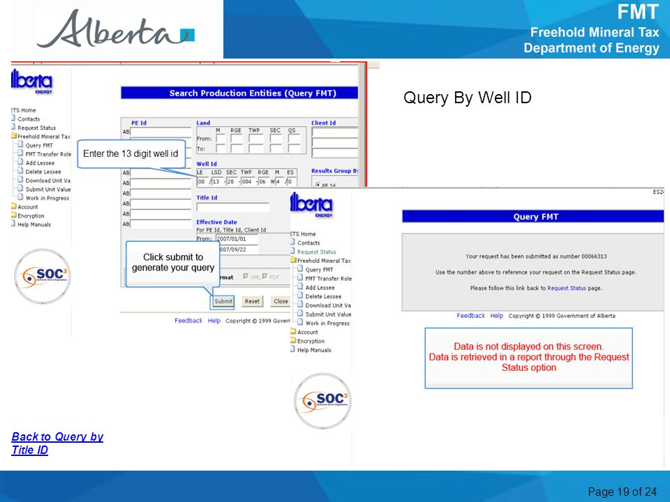Page 19 of 24 Back to Query by Title ID Query By Well ID More Information4