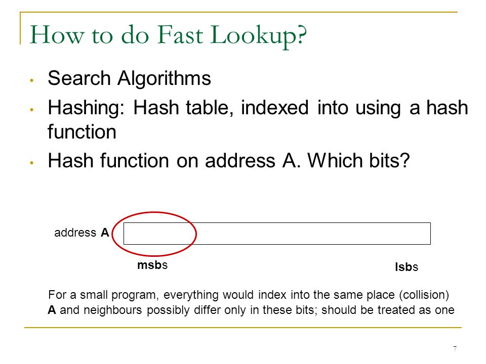 7 How to do Fast Lookup.