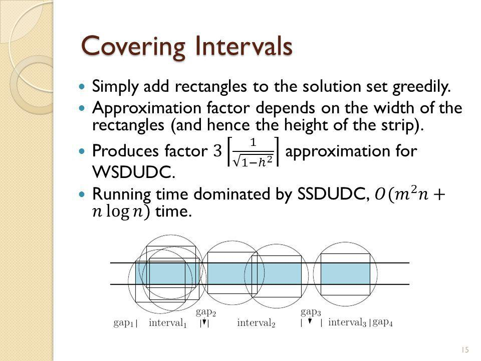 Covering Intervals 15