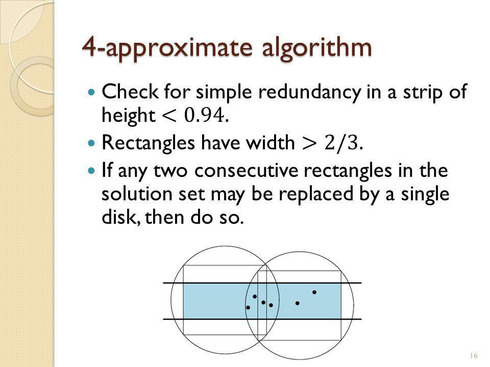 4-approximate algorithm 16